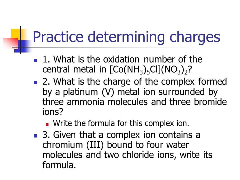 Practice determining charges