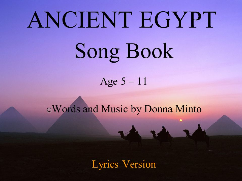 Song Book Age 5 – 11 ©Words and Music by Donna Minto Lyrics ...