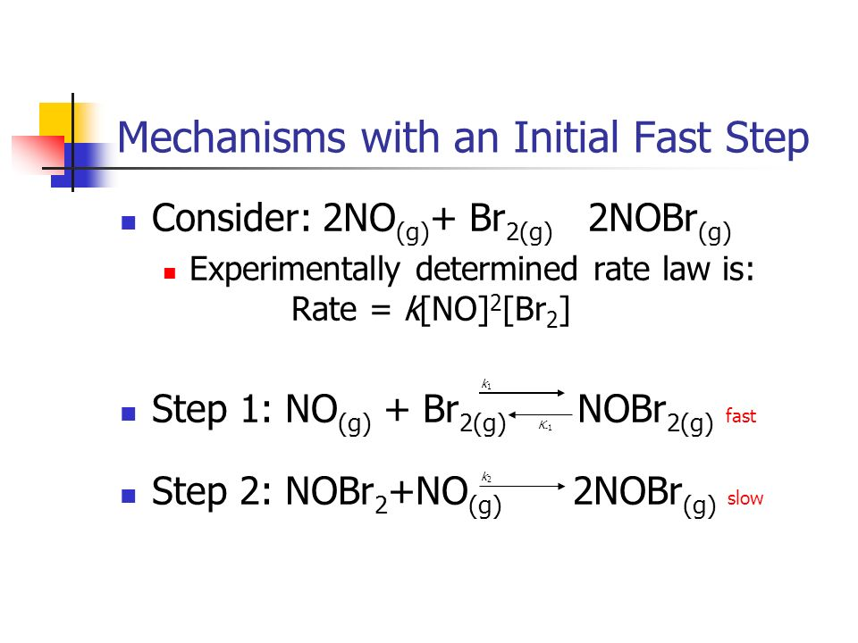 Mechanisms with an Initial Fast Step