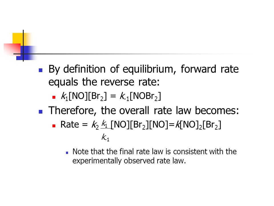 By definition of equilibrium, forward rate equals the reverse rate: