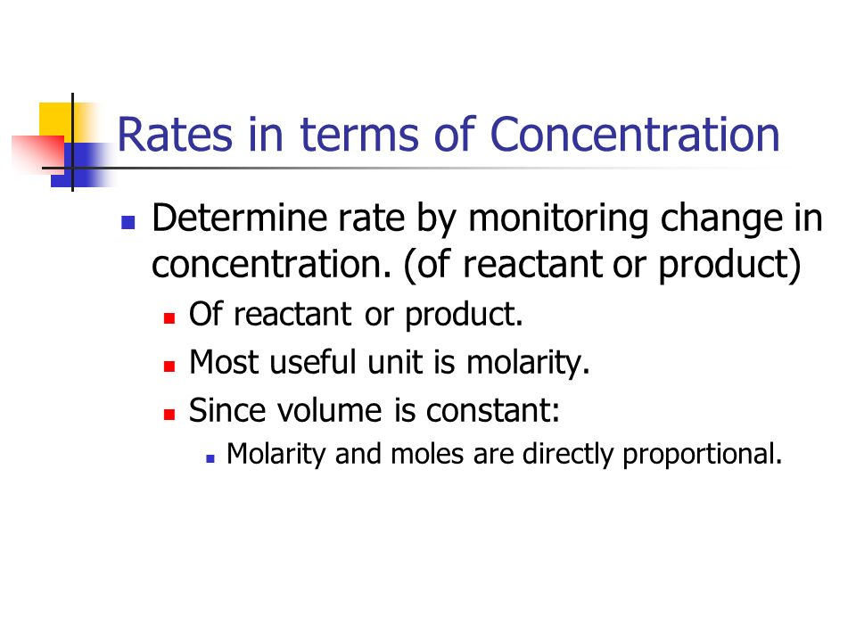 Rates in terms of Concentration