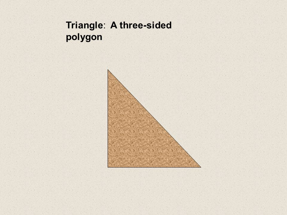 Triangle: A three-sided polygon