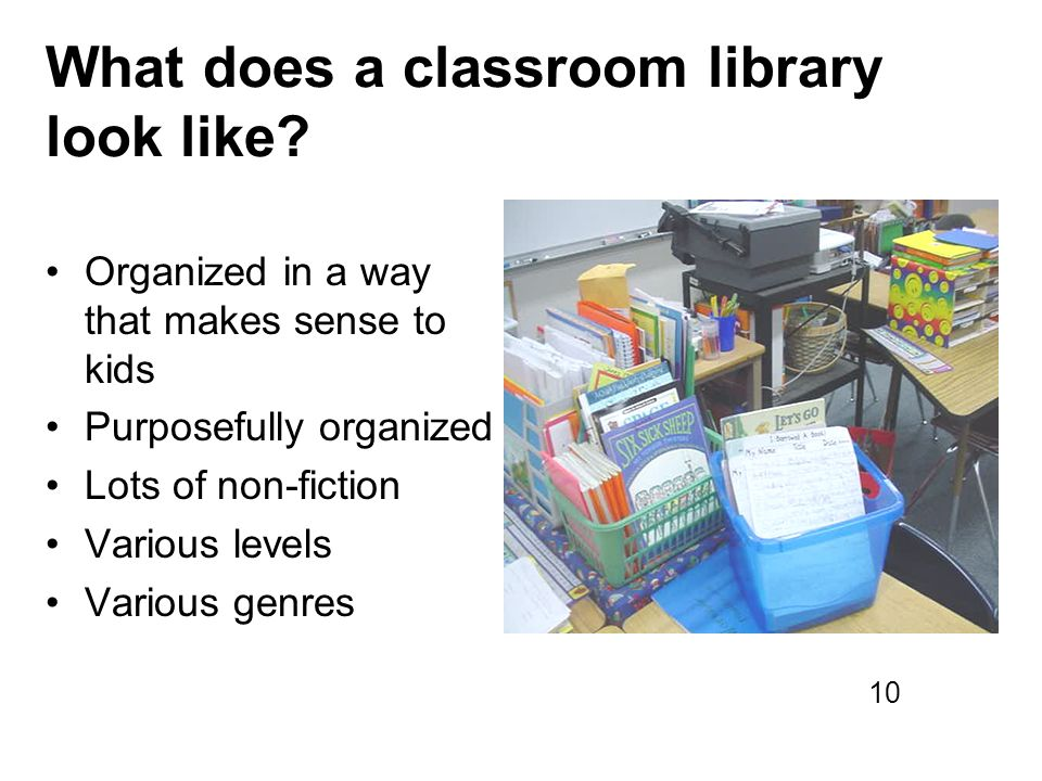 What does a classroom library look like