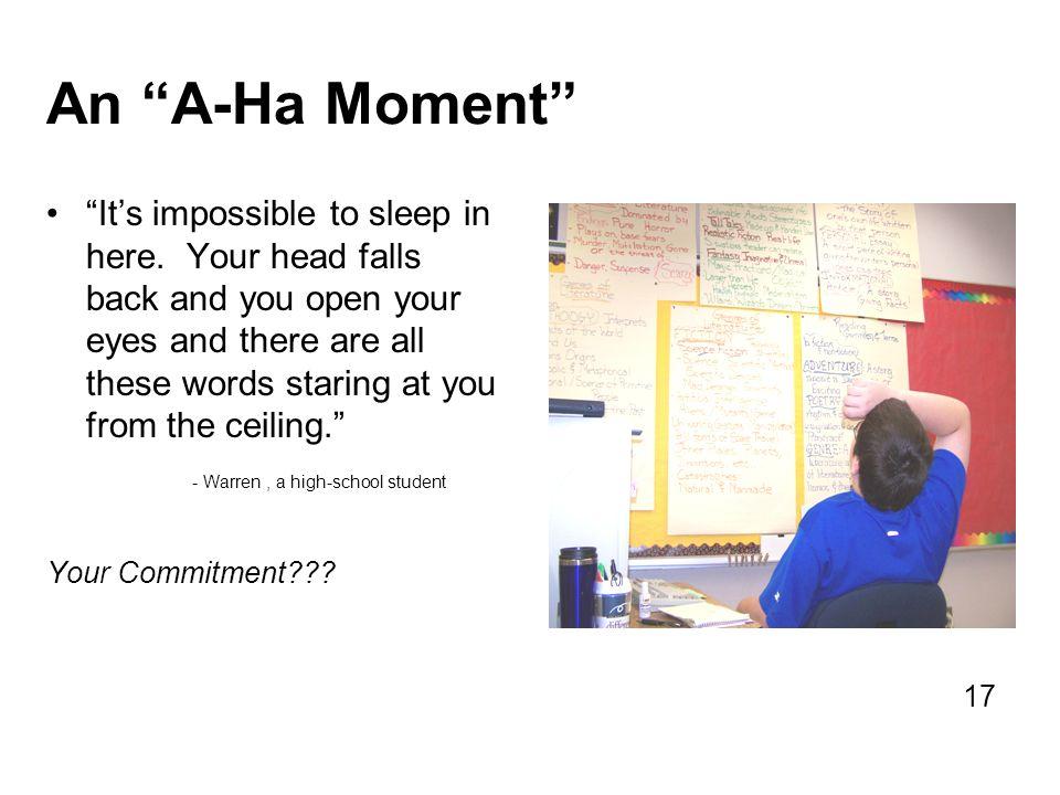 An A-Ha Moment