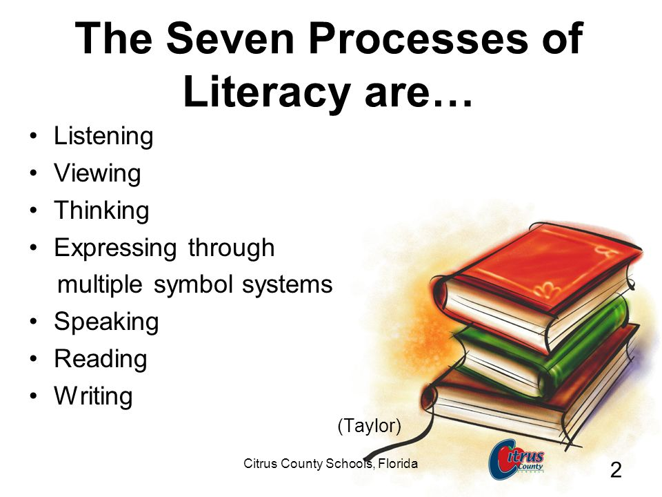 The Seven Processes of Literacy are…