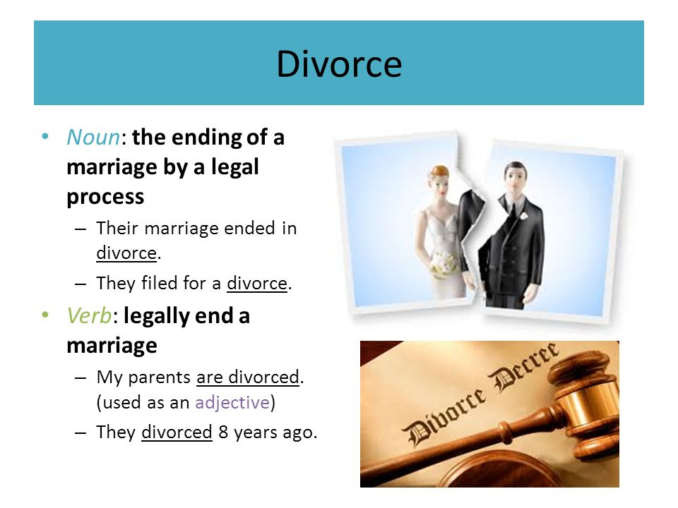 an analysis of a as a legal ending of a marriage Family law ending your marriage annulment annulment you can seek an annulment if you want to have a court declare that your marriage is no longer valid, even though it may have been.