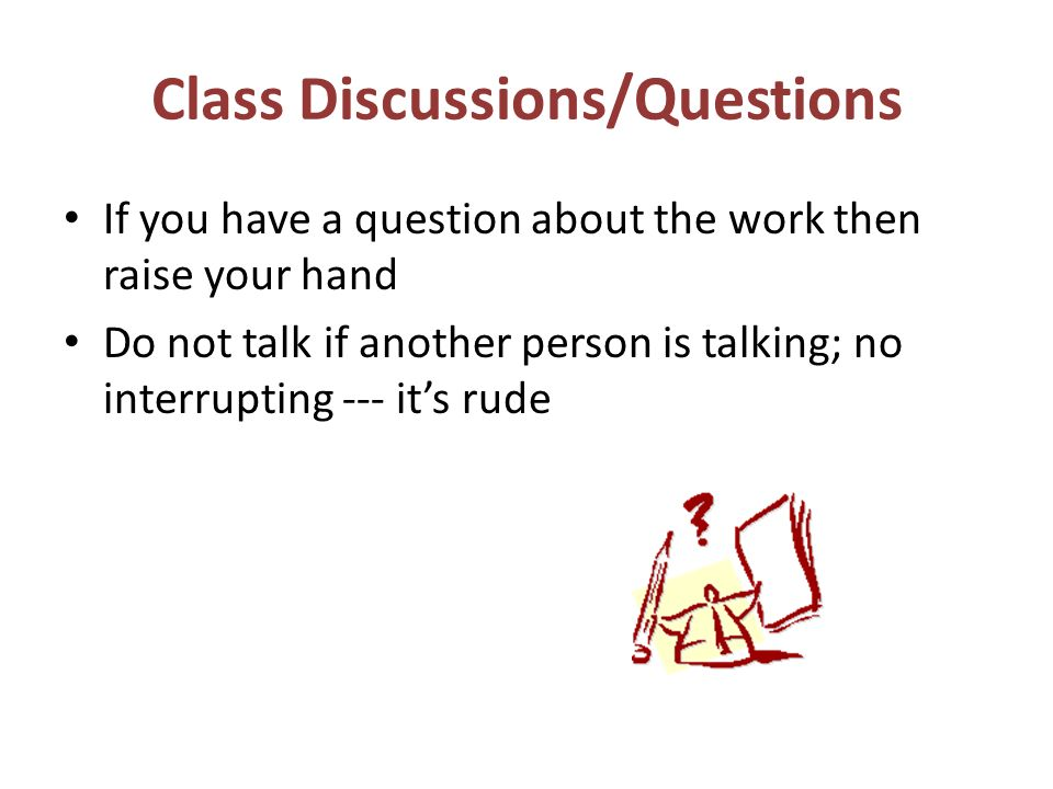 Class Discussions/Questions