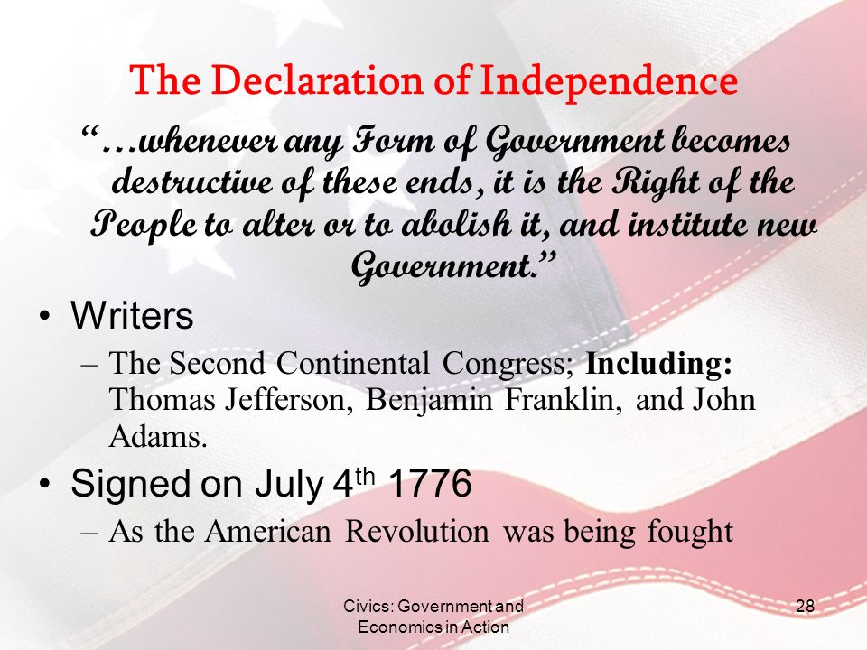 Declaration of independence worksheet pdf
