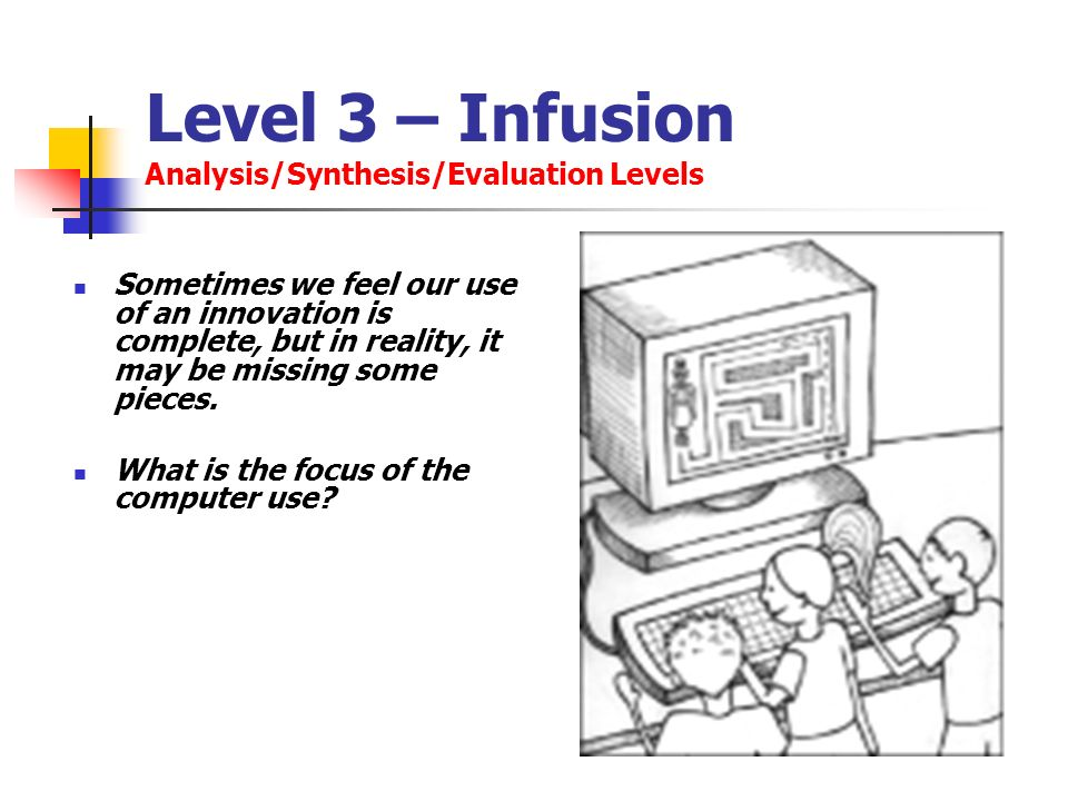 Level 3 – Infusion Analysis/Synthesis/Evaluation Levels