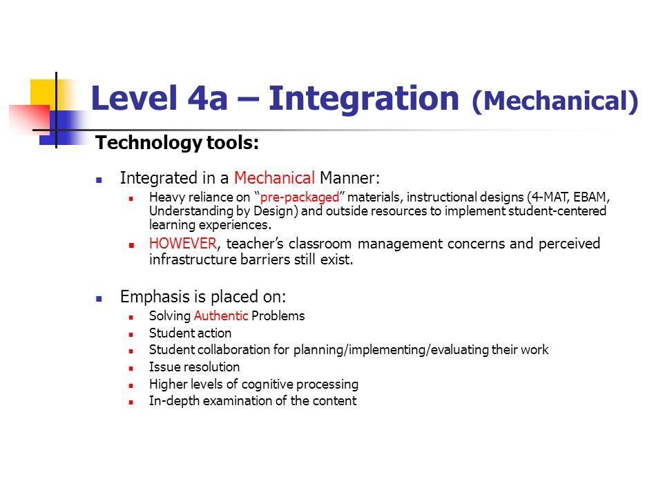 Level 4a – Integration (Mechanical)