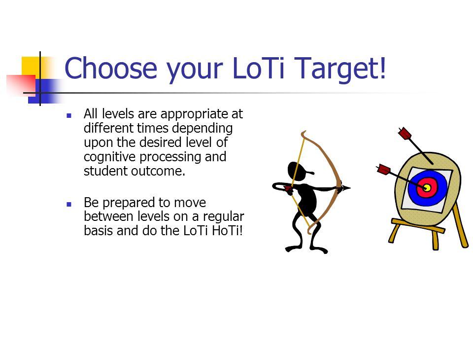 Choose your LoTi Target!