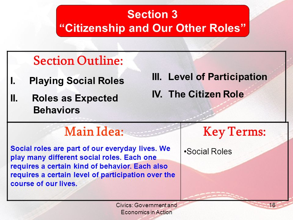 Citizenship and Our Other Roles