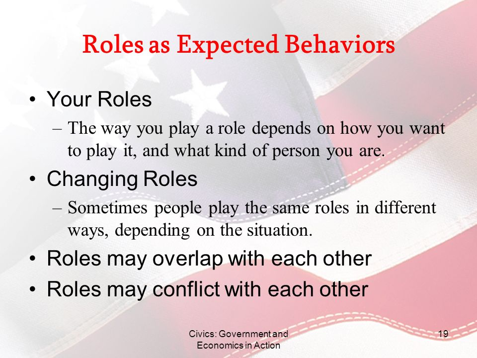 Roles as Expected Behaviors