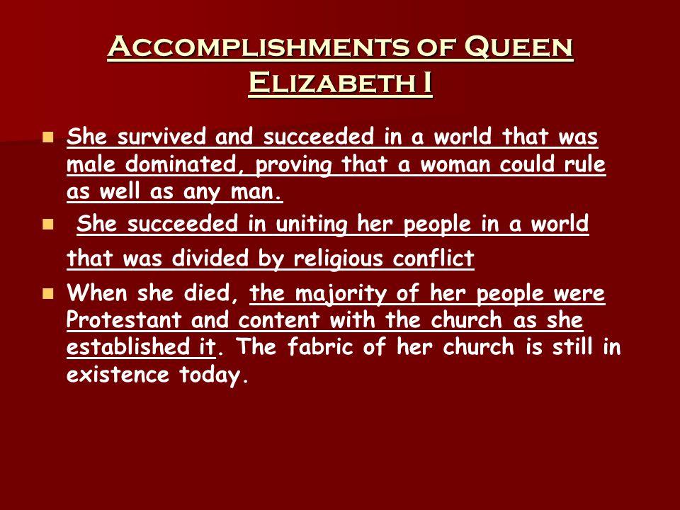 Accomplishments of Queen Elizabeth I