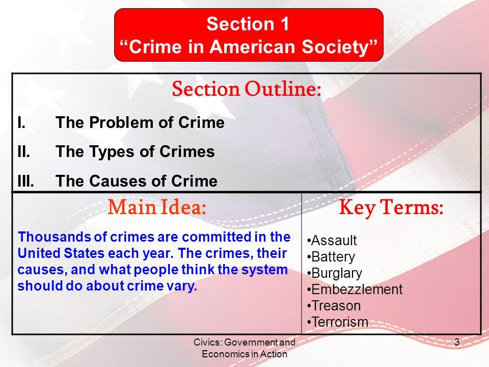 Crime in American Society