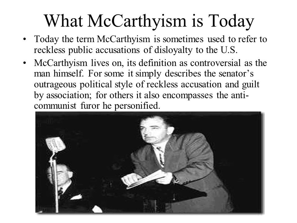 What McCarthyism is Today