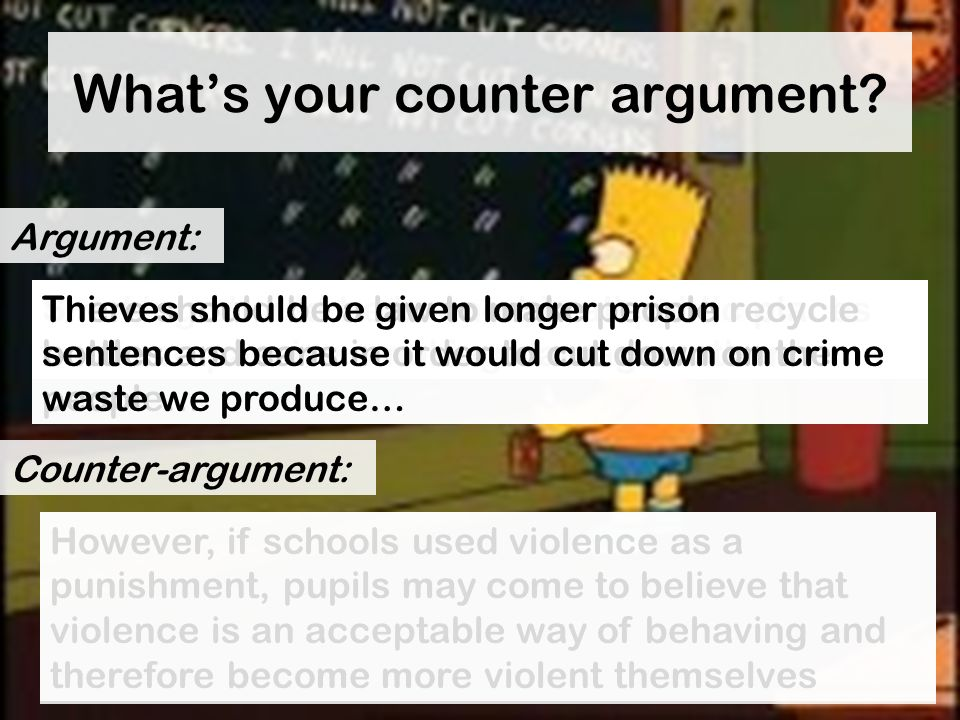 What's your counter argument