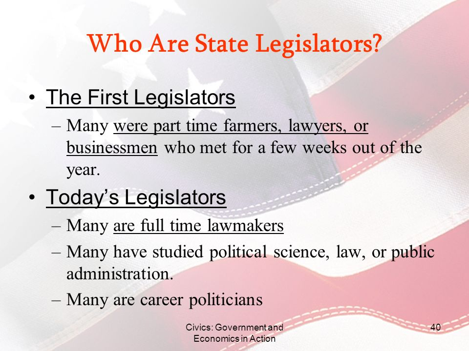 Who Are State Legislators