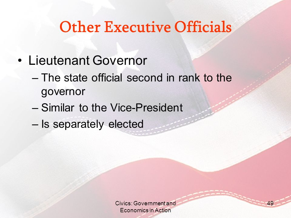 Other Executive Officials