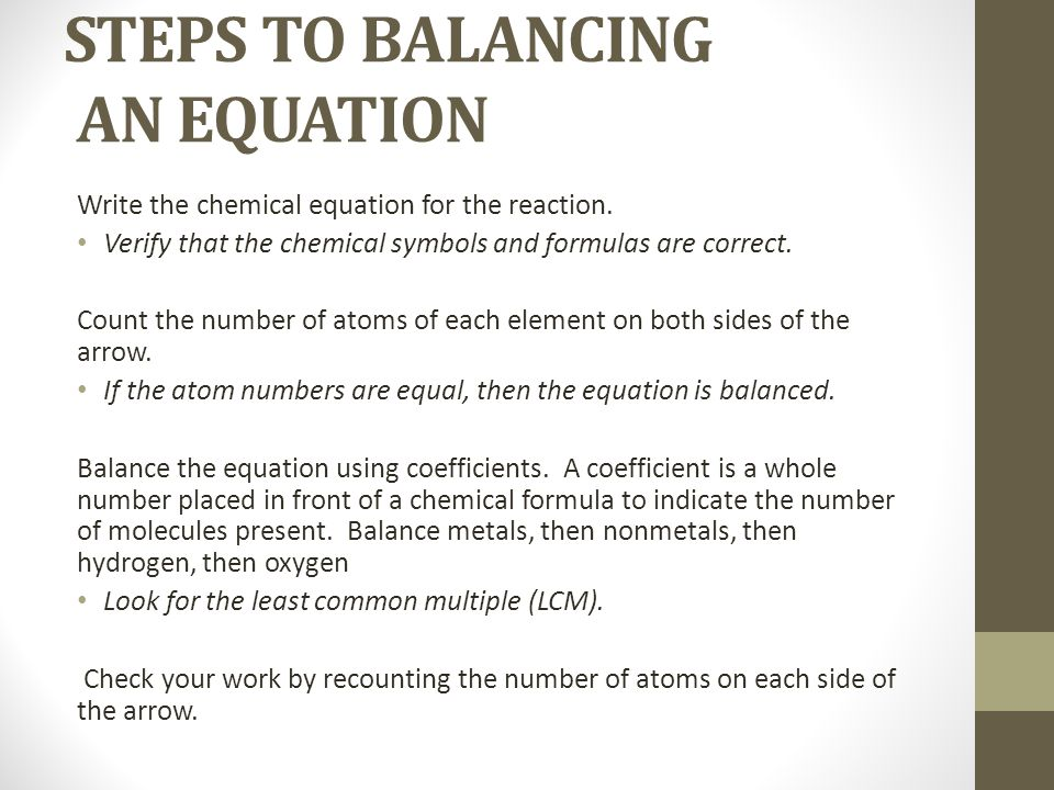 How To Balance Chemical Equations Step By Tessshebaylo – Chemical Formulas and Equations Worksheet Answers