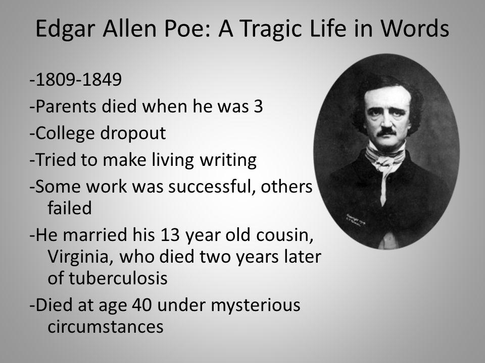 Edgar Allen Poe: A Tragic Life in Words