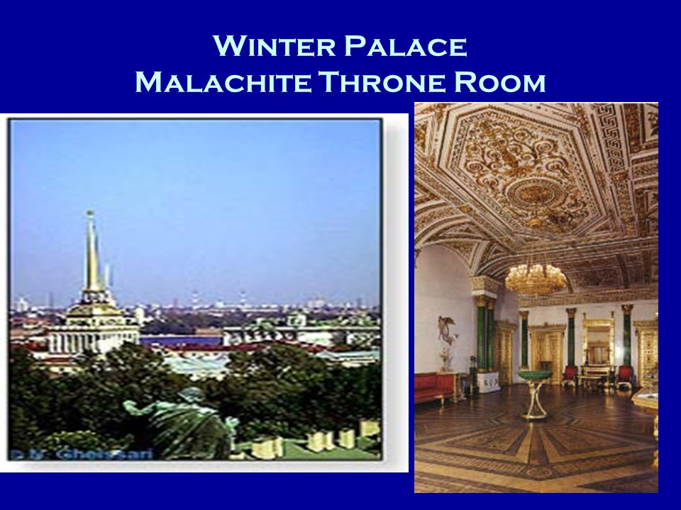 Winter Palace Malachite Throne Room