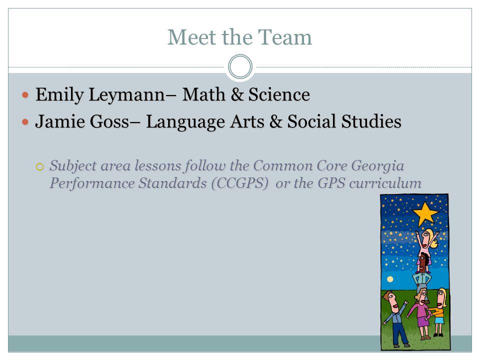 Meet the Team Emily Leymann– Math & Science