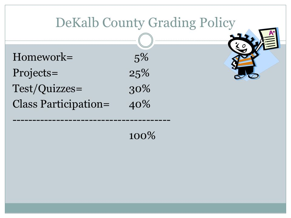 DeKalb County Grading Policy