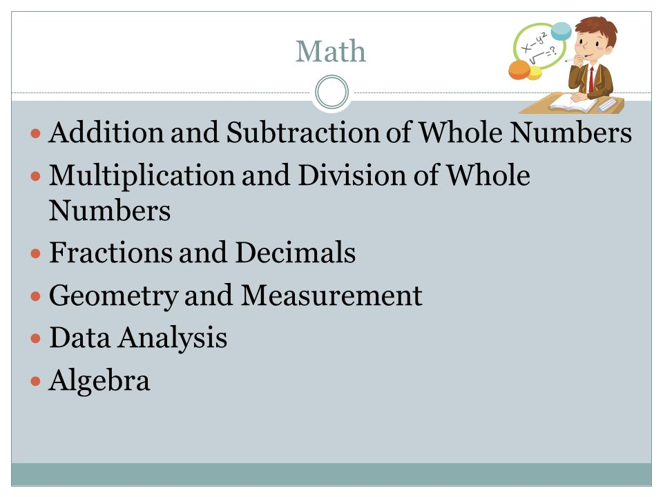 Math Addition and Subtraction of Whole Numbers