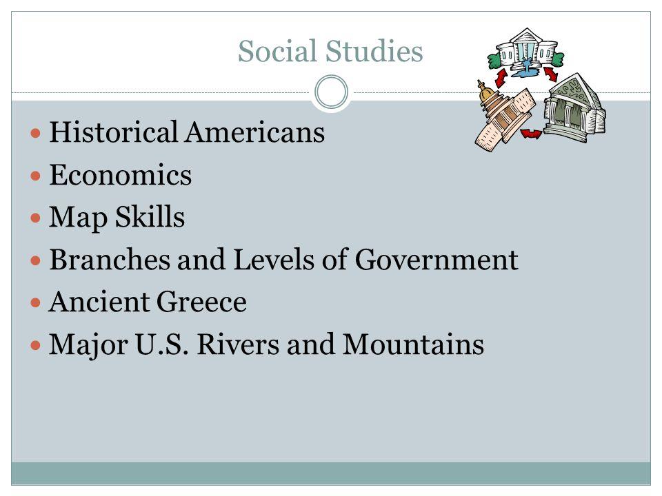 Social Studies Historical Americans Economics Map Skills