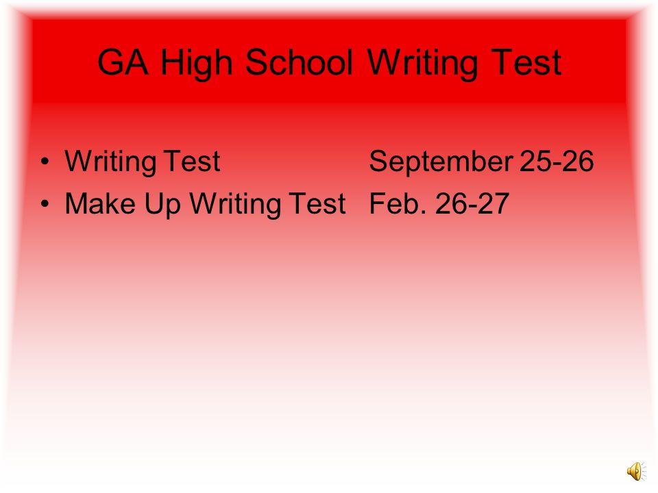 GA High School Writing Test