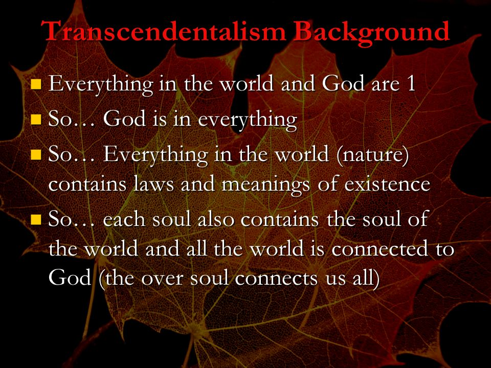 Transcendentalism Background