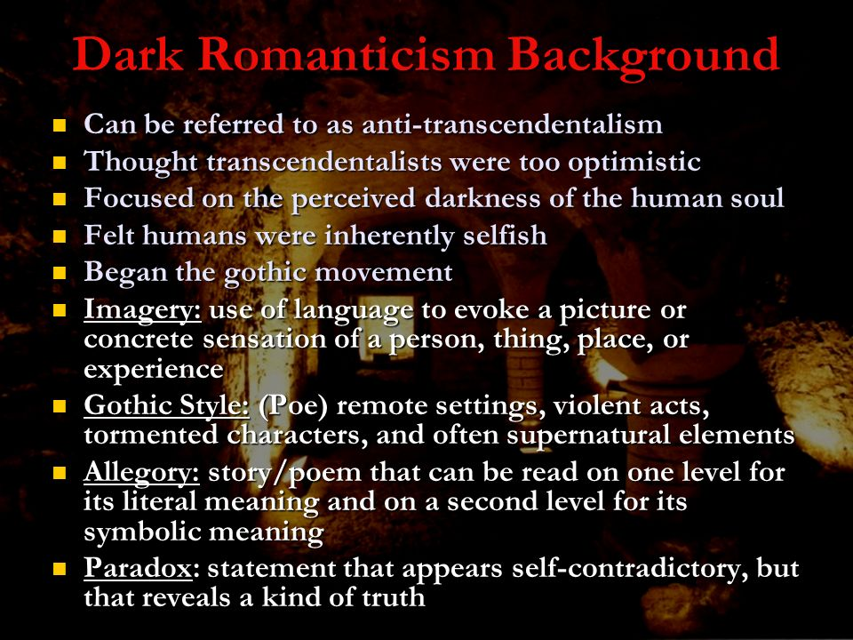 Dark Romanticism Background