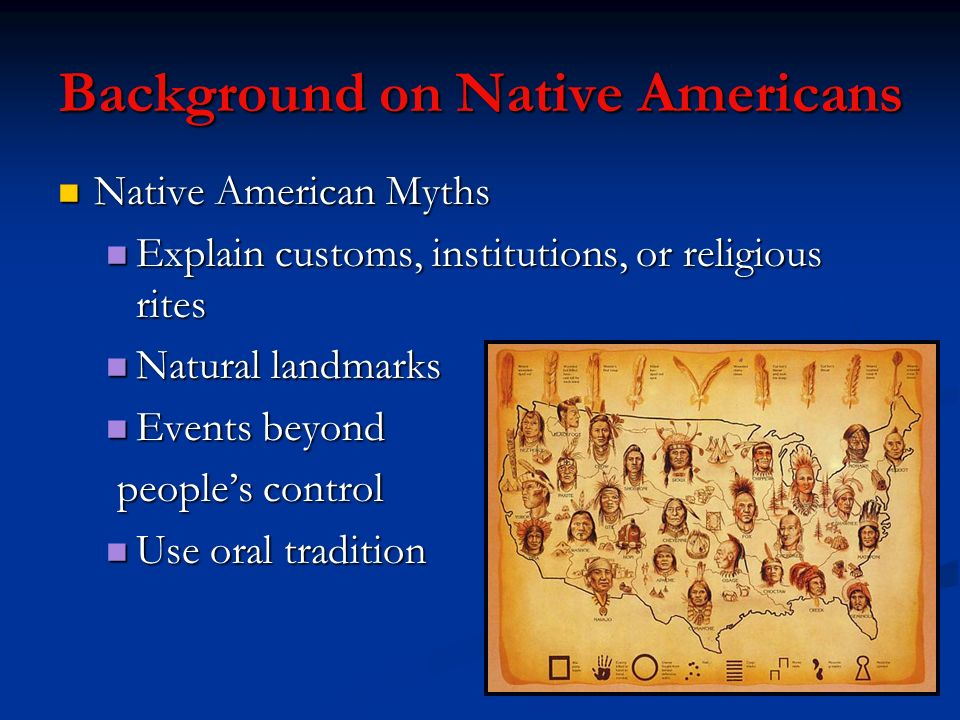 Background on Native Americans