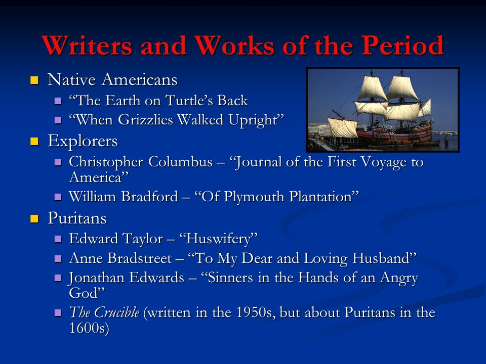 Writers and Works of the Period
