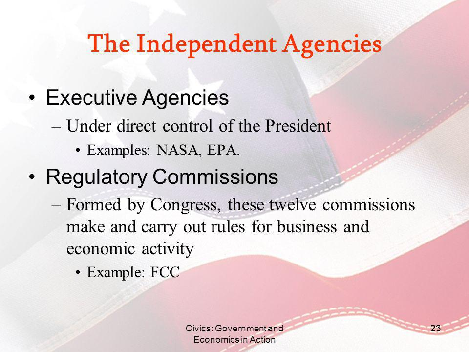 The Independent Agencies