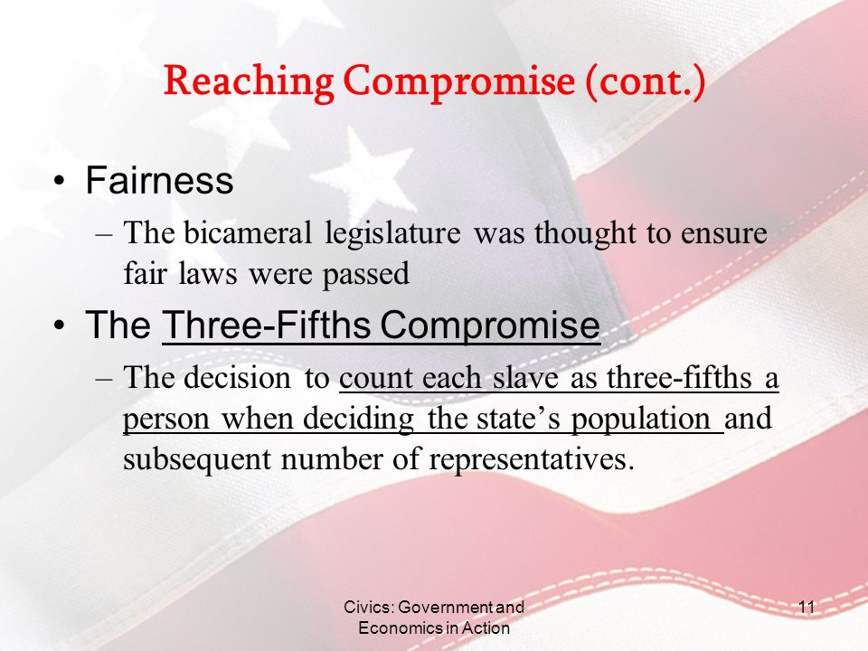 Reaching Compromise (cont.)