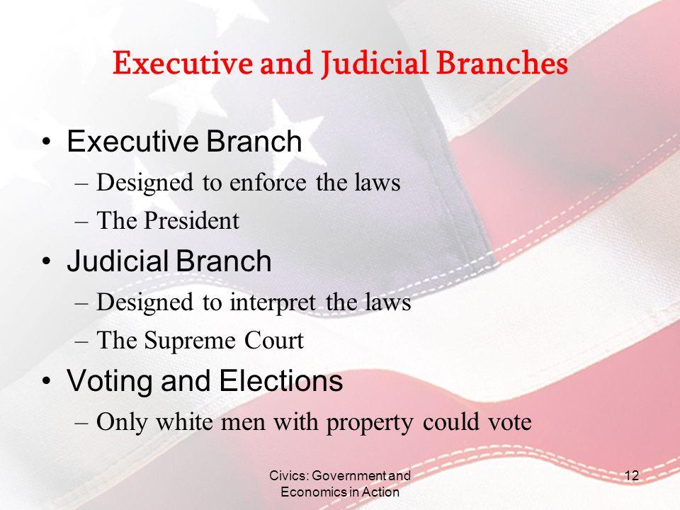 Executive and Judicial Branches