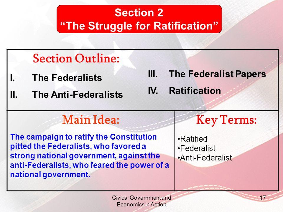 The Struggle for Ratification