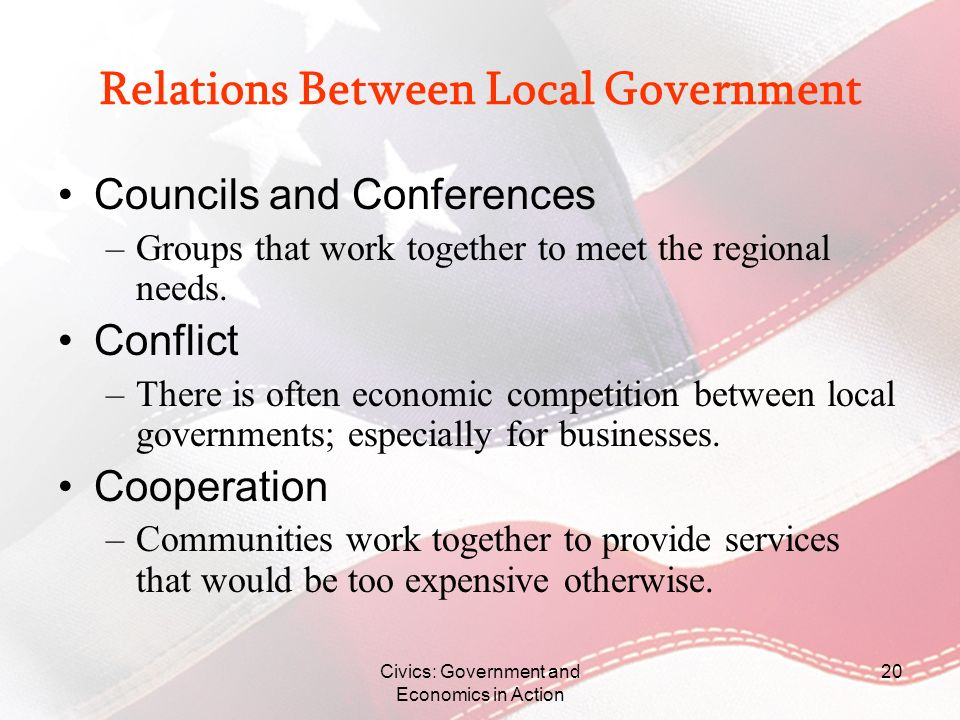 Relations Between Local Government