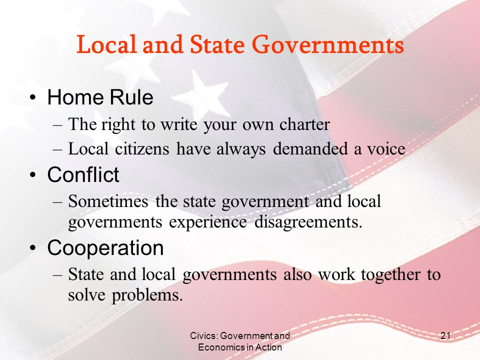 Local and State Governments