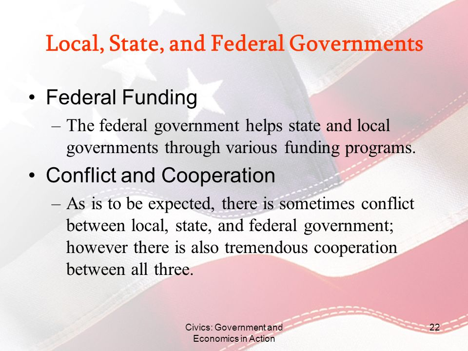 Local, State, and Federal Governments