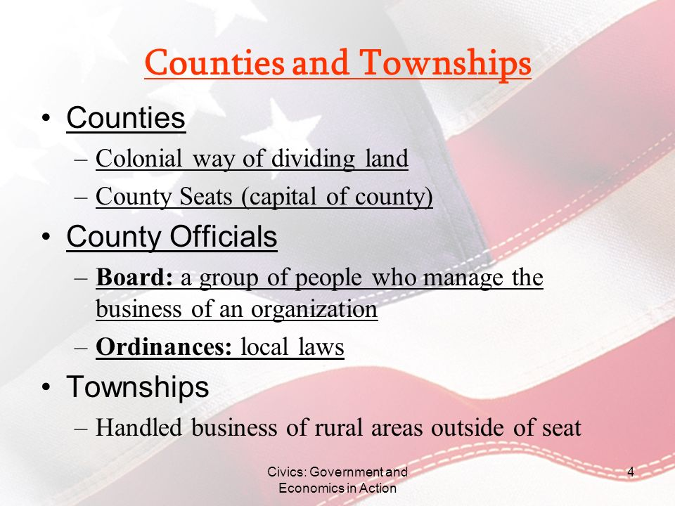 Counties and Townships