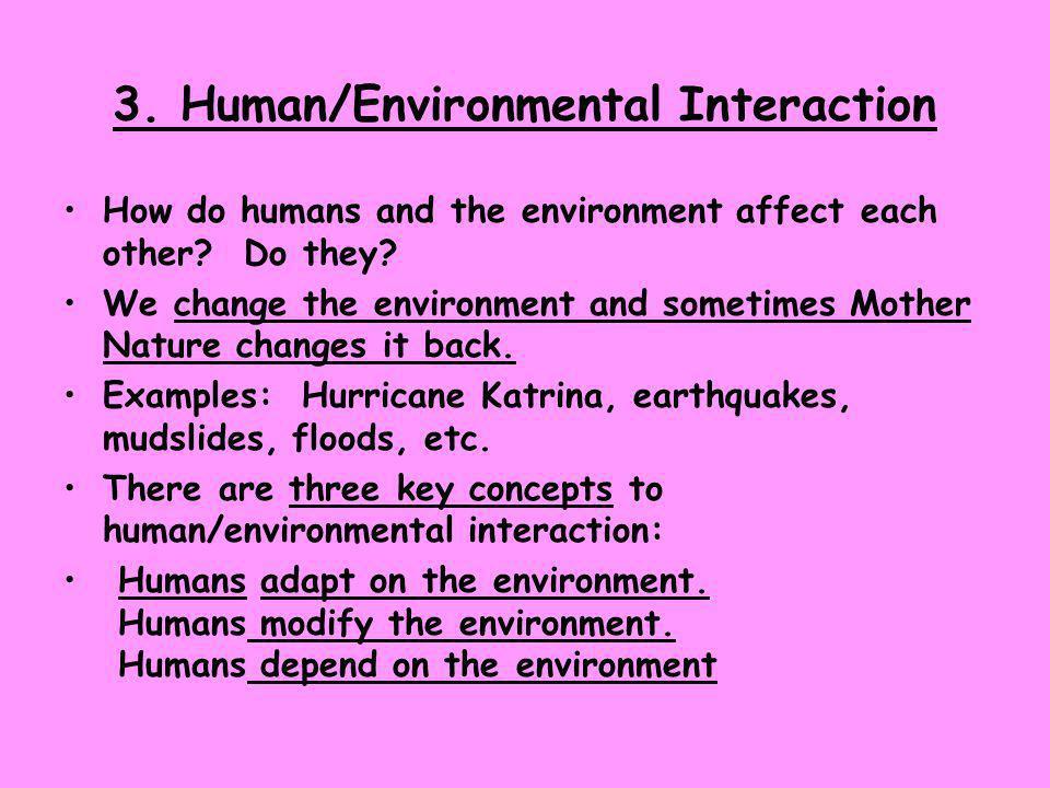 3. Human/Environmental Interaction
