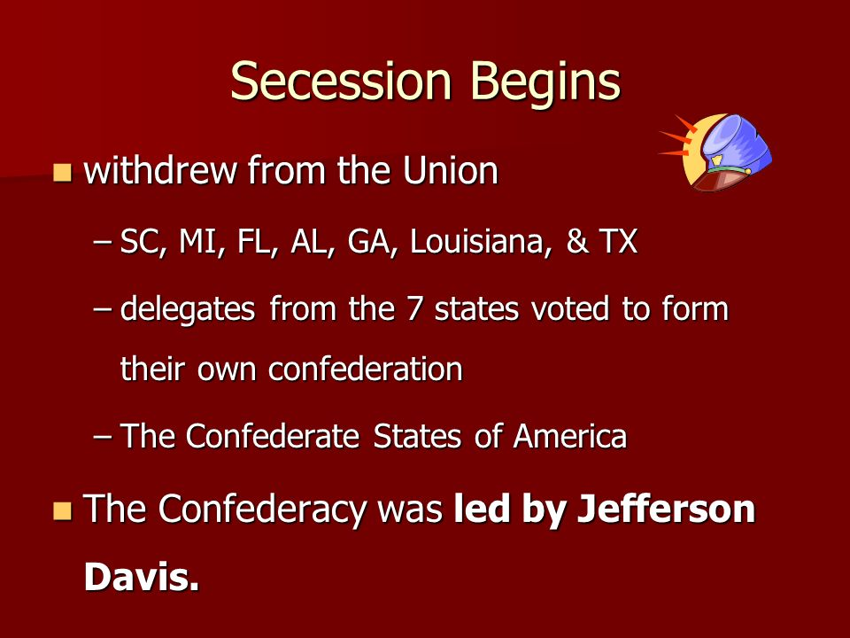 Secession Begins withdrew from the Union