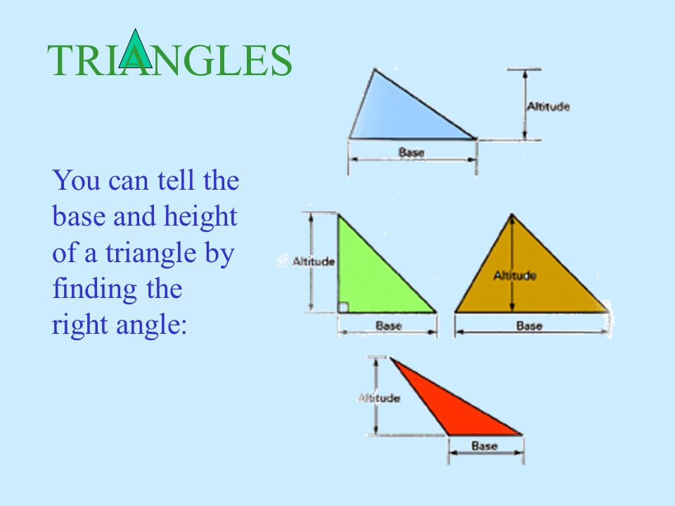 Right Angle Base : Geometry formulas surface area volume ppt download