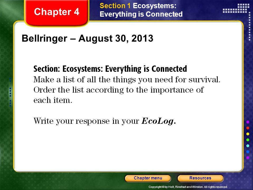 Chapter 4 Bellringer – August 30, 2013