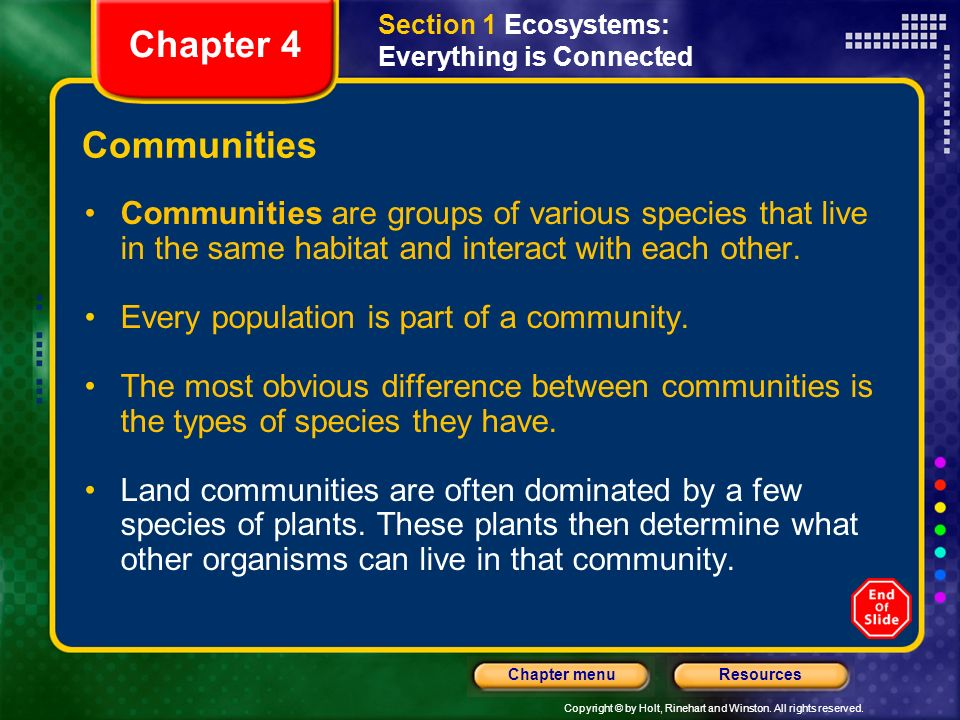 Section 1 Ecosystems: Everything is Connected