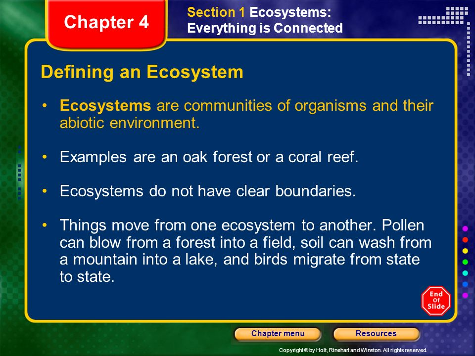 Chapter 4 Defining an Ecosystem