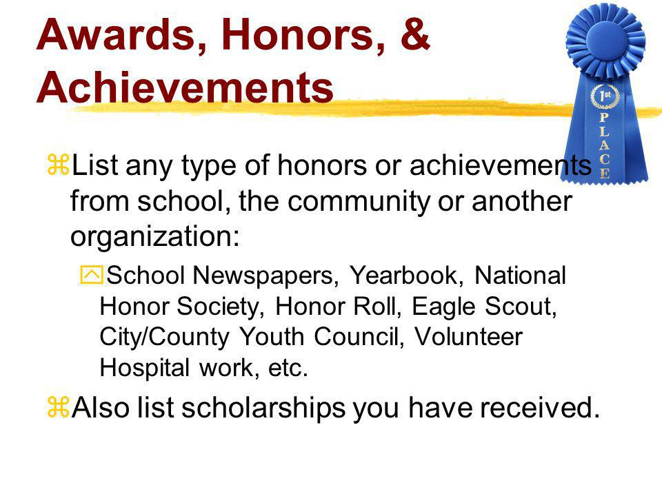 Awards, Honors, & Achievements